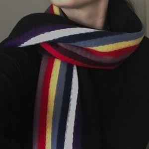 Neiman Marcus Multicolor Striped Fringe Scarf OS